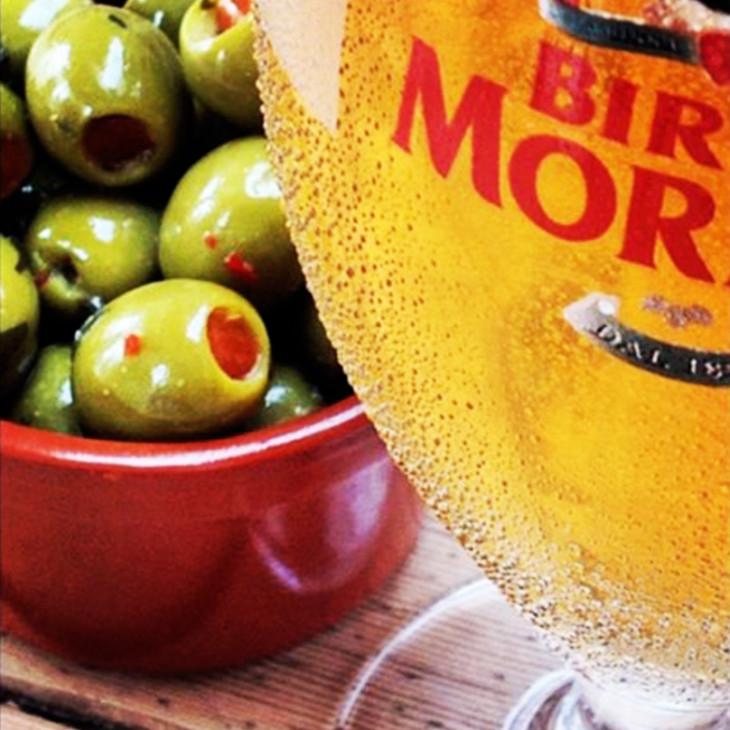 Birra Moretti & Italian Olives