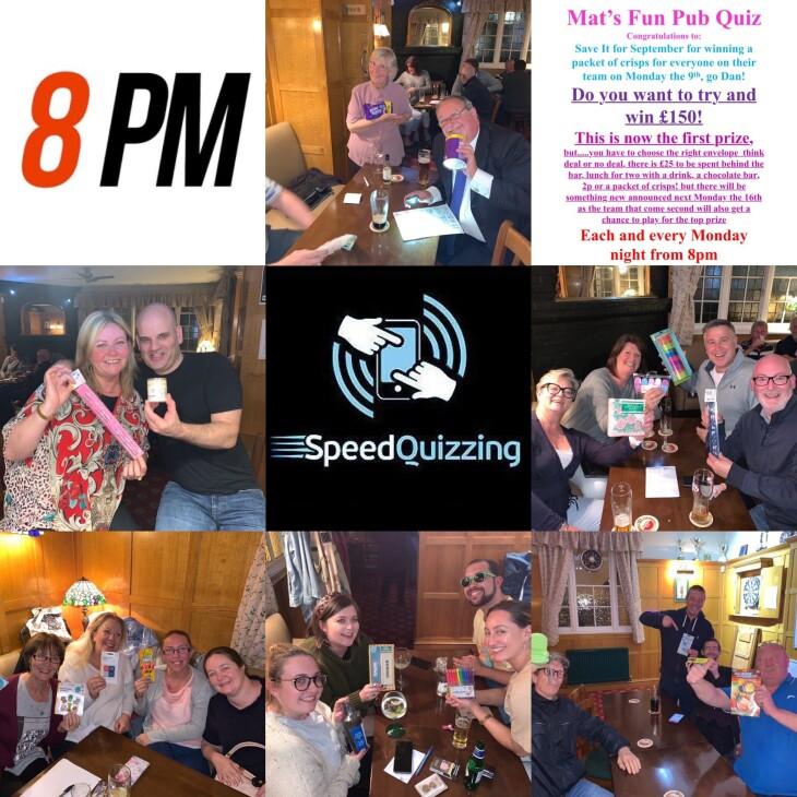 Speed Pub Quiz 9th September