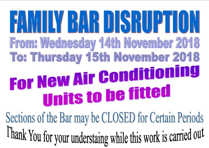 FAMILY BAR DISRUPTION