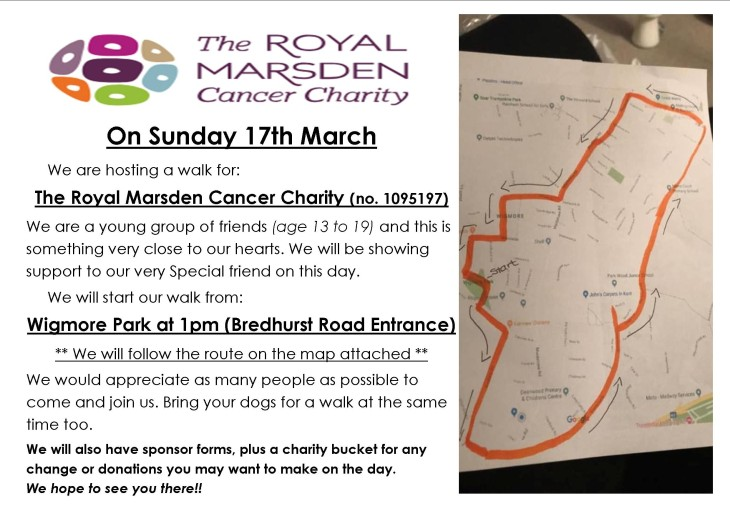 CHARITY WALK for The Royal Marsden
