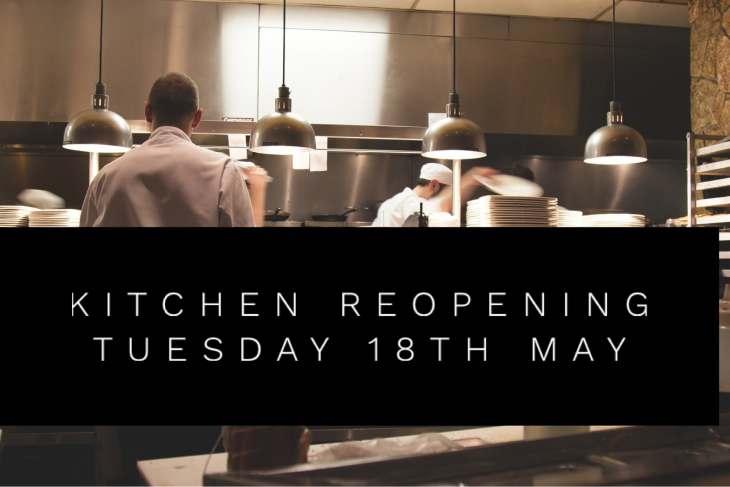 REOPENING Tuesday 18th May