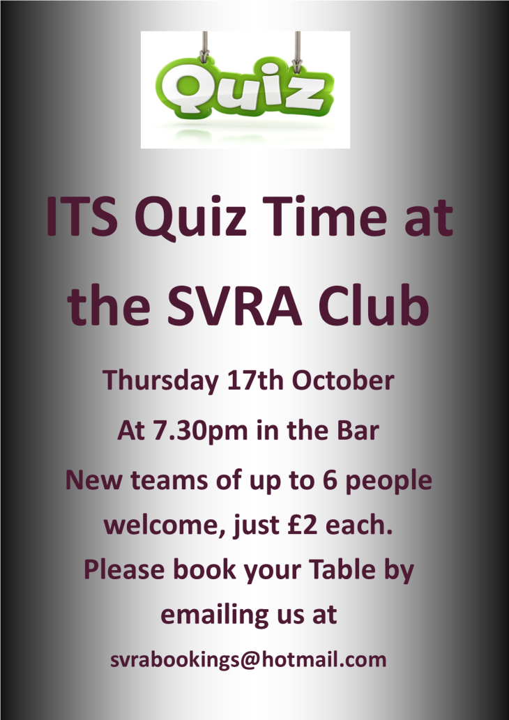 SVRA CASH PRIZE QUIZ THIS THURSDAY