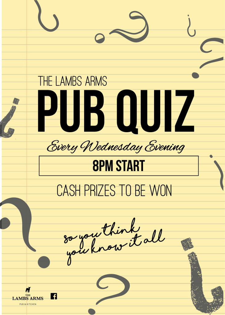 Weekly Pub Quiz!