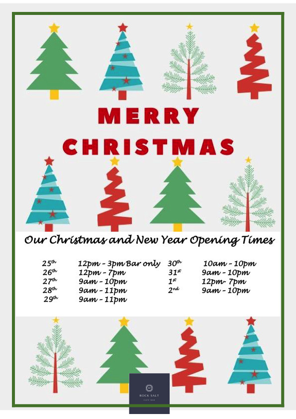 Christmas New Year Opening Times