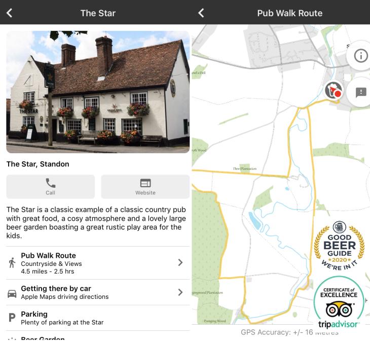 Pub Walk App.