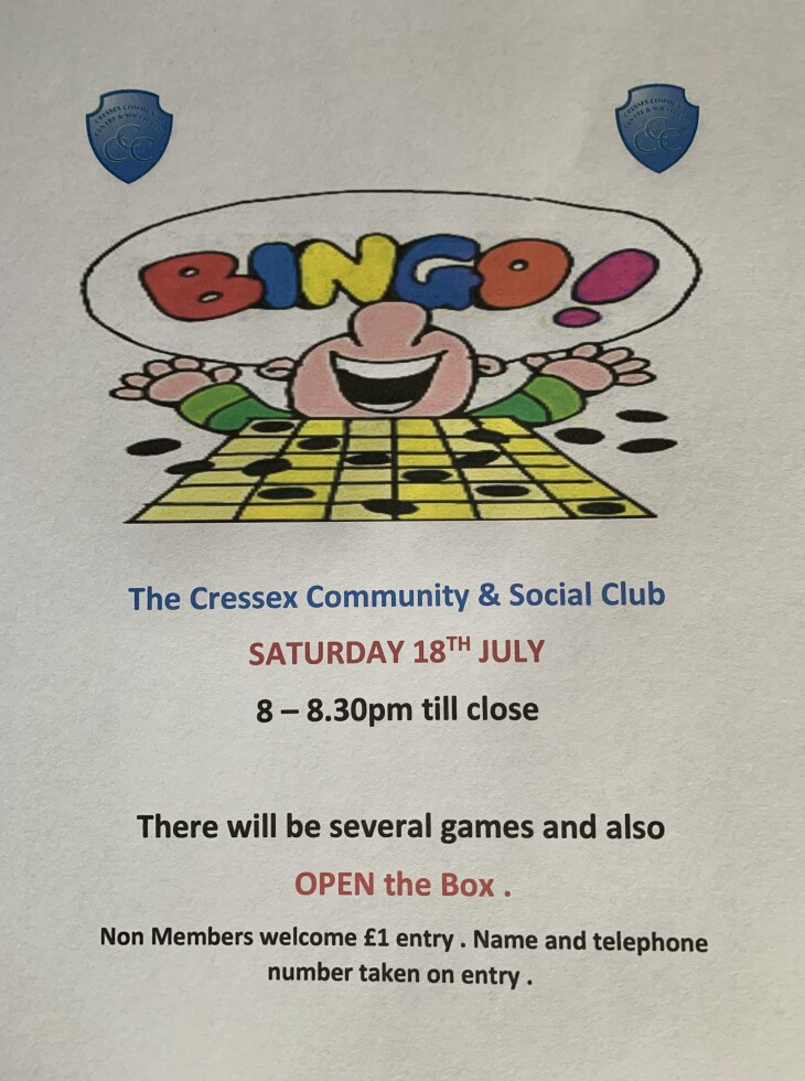 Bingo & Open the Box reminder 18/7/20