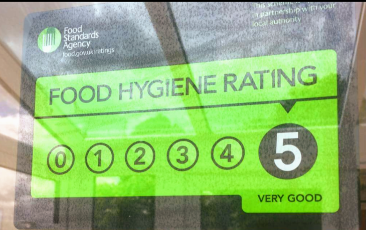5* Food and Safety Rating