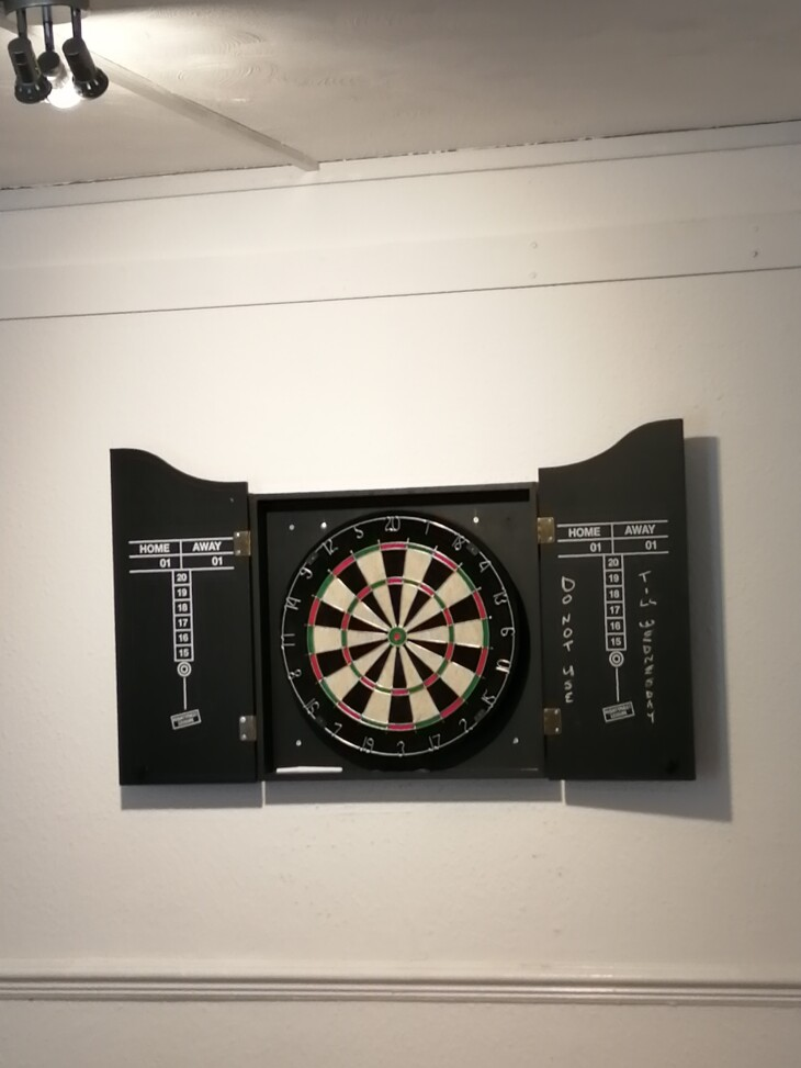 New Dartboard now fitted.