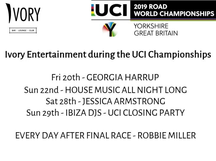 UCI championships entertainment