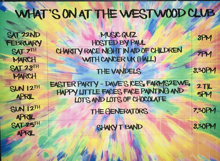What's on at The Westwood Club