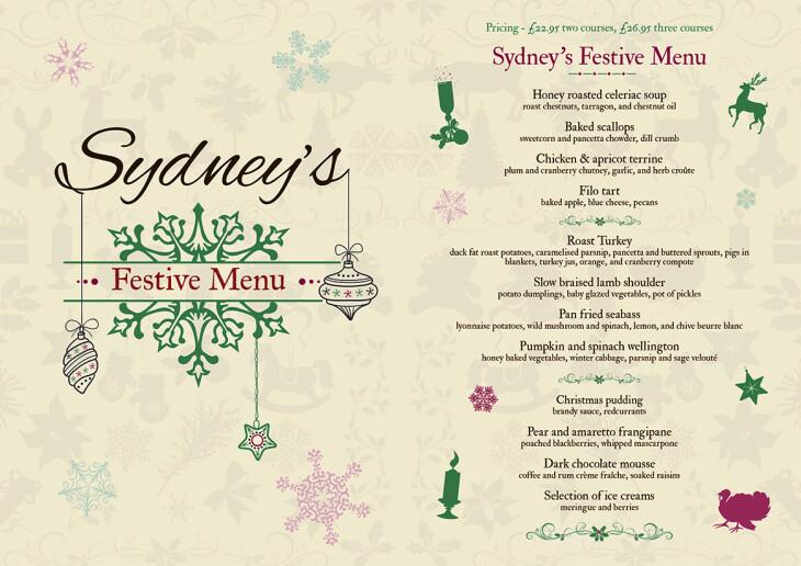 Our festive menu has arrived!!