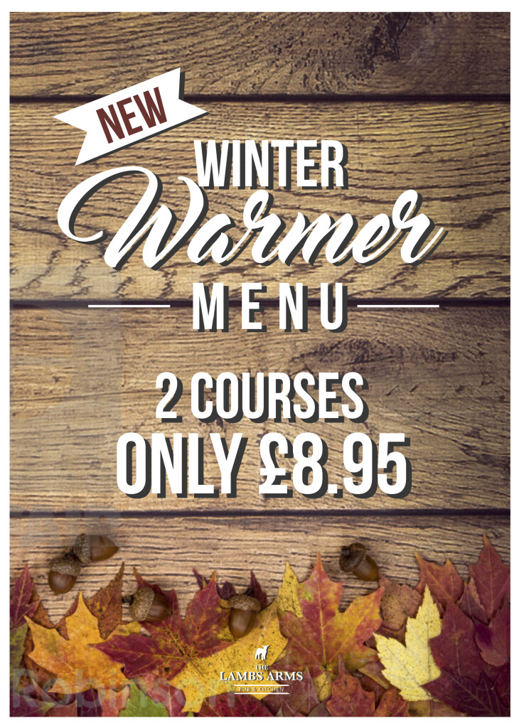 2 Courses only £8.95