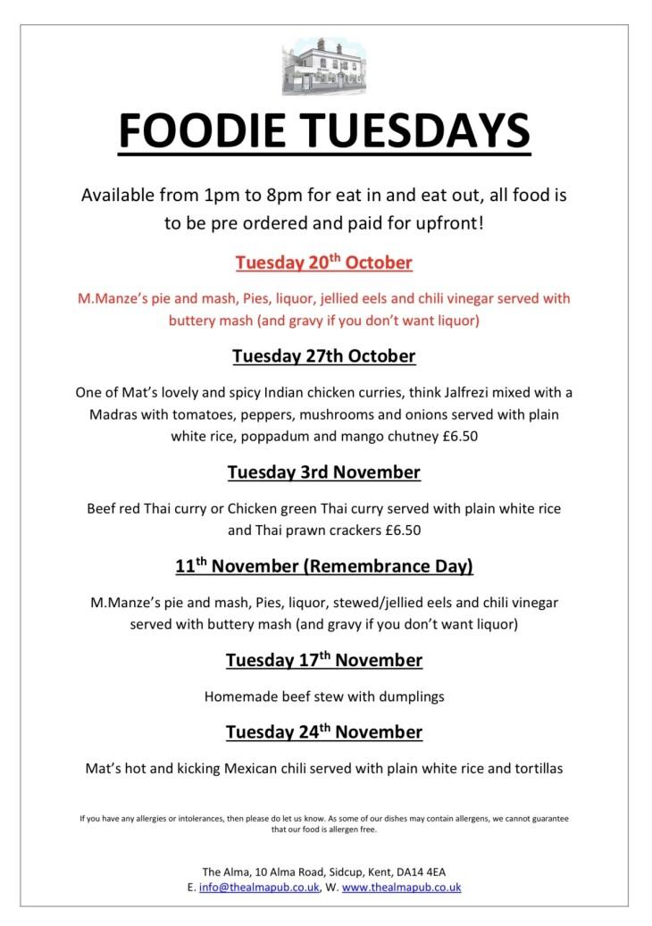 Next weeks Foodie Tuesday