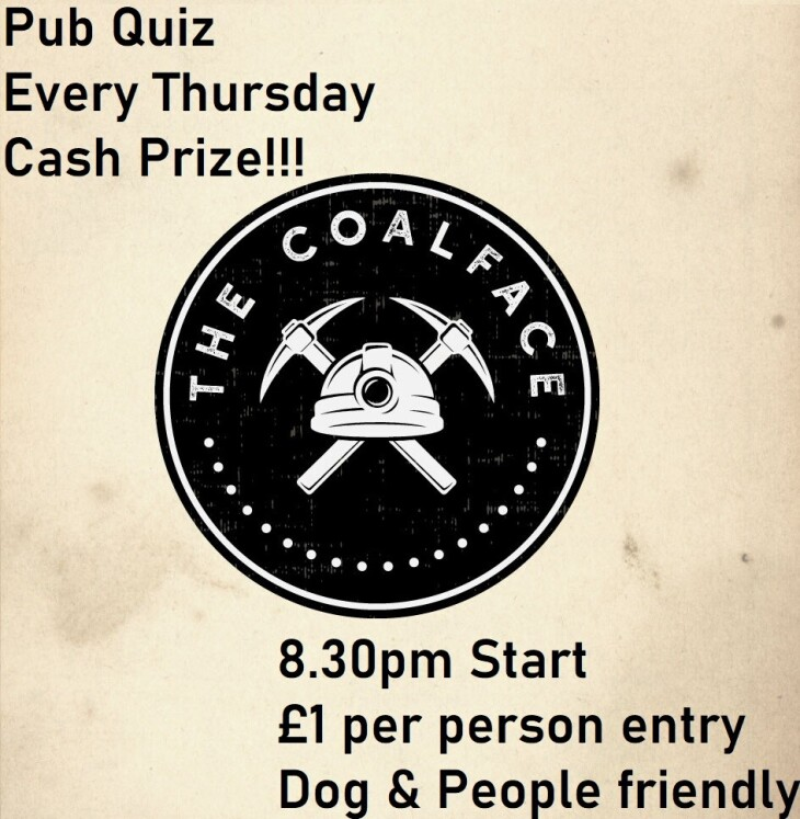 TONIGHT! Pub Quiz @ The Coalface