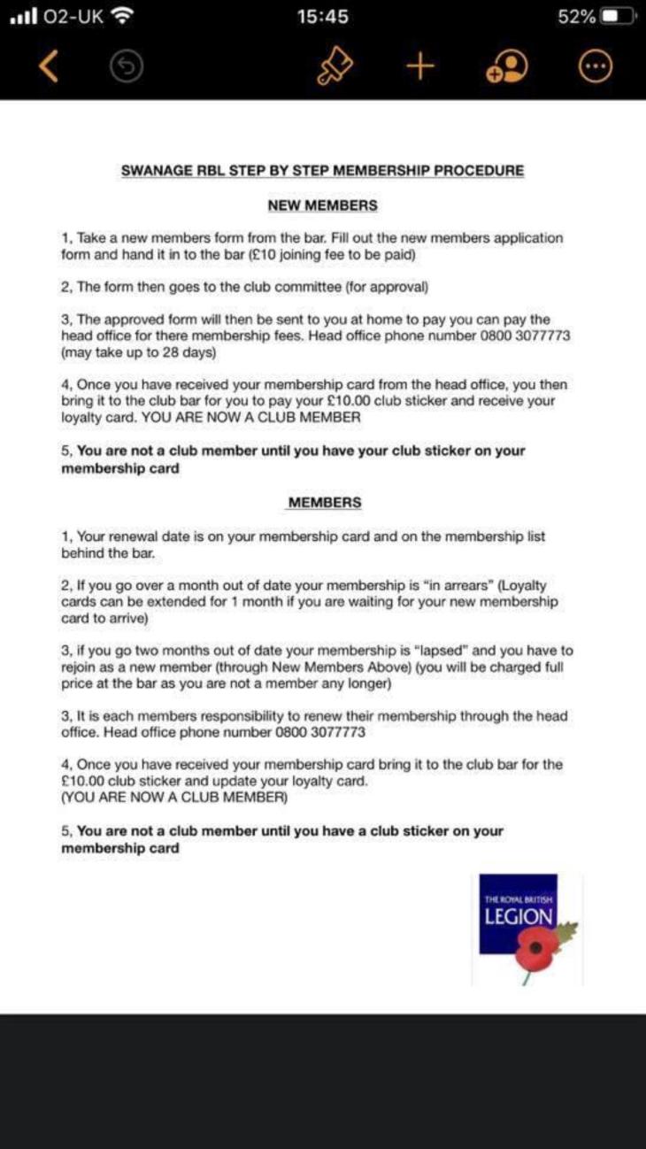 Membership Procedures