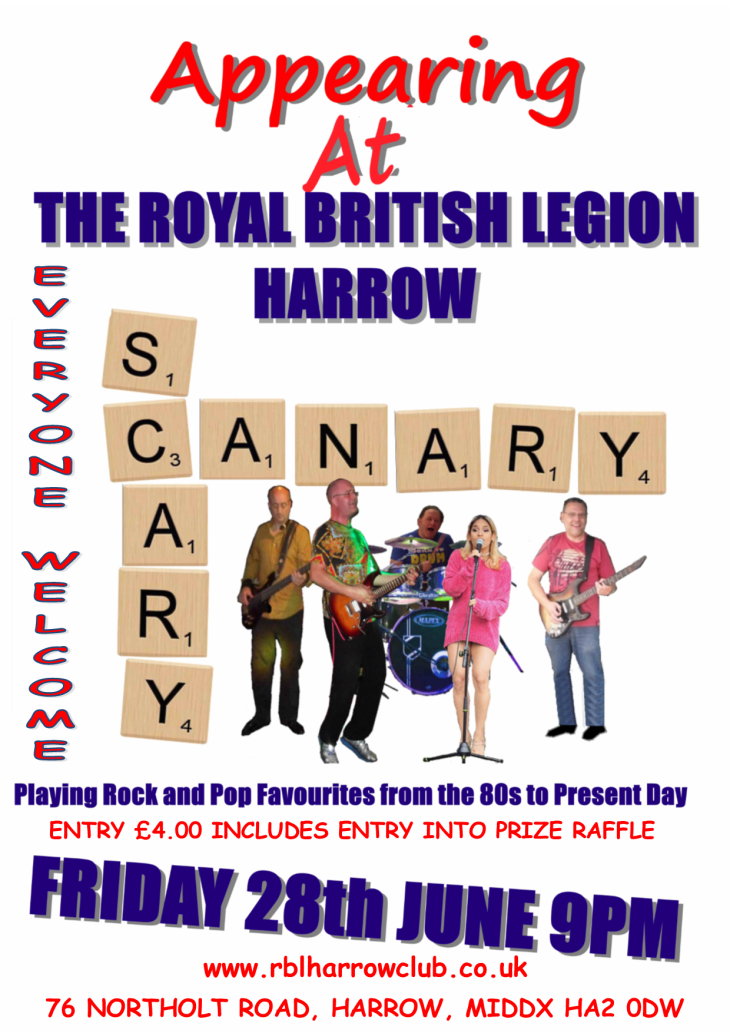 SCARY CANARY AT THE RBL HARROW CLUB