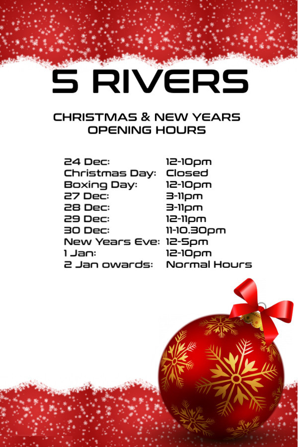 Festive Period Hours