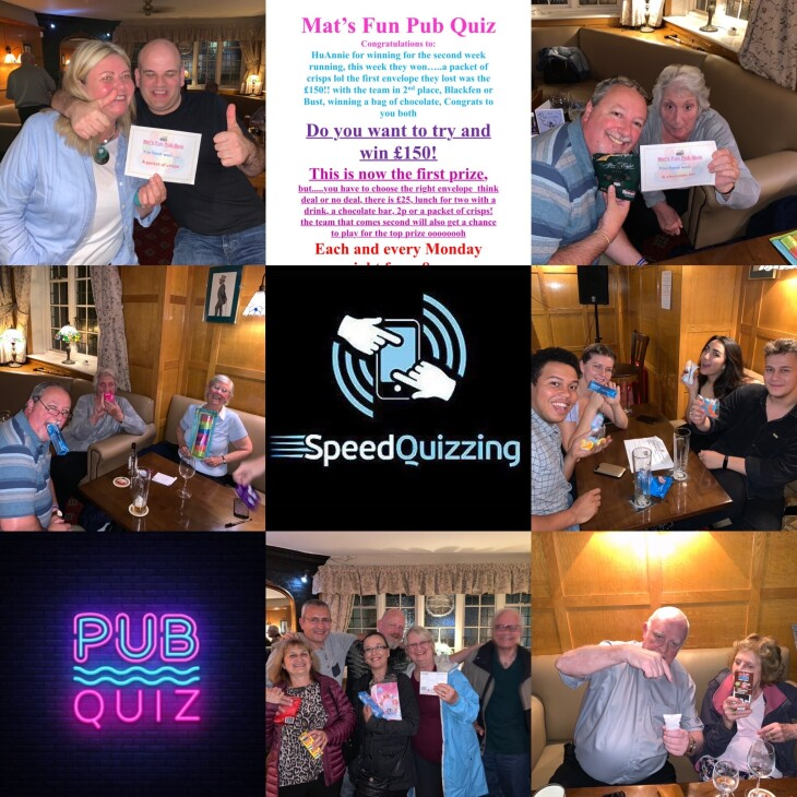 Last nights Mat's Fun Pub Quiz
