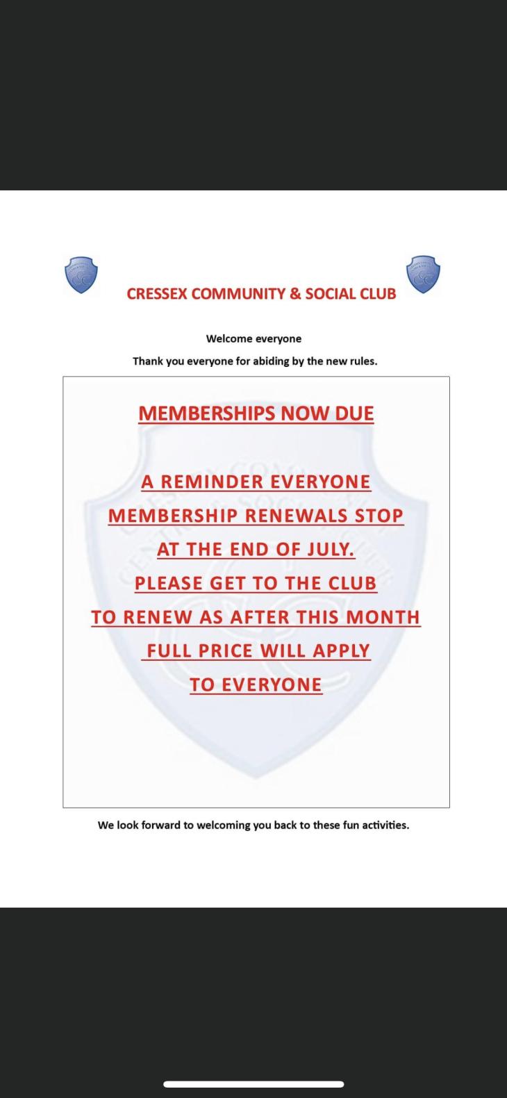 Membership renewal final week reminder