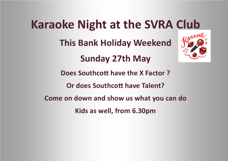 Don't forget its Karaoke night tonight