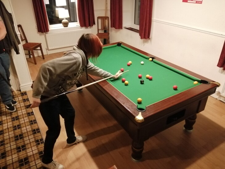 Pool table re-covered with speed cloth