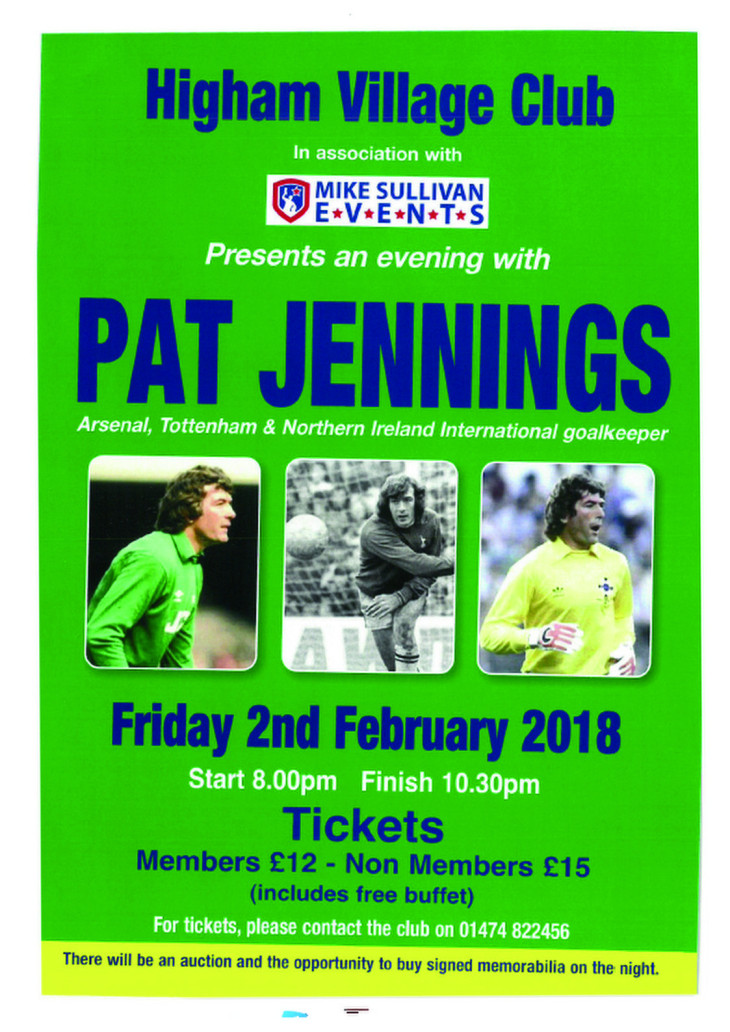 Pat Jennings Friday 2 February
