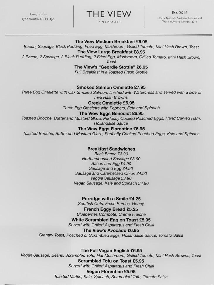 Brand New Breakfast Menu!!