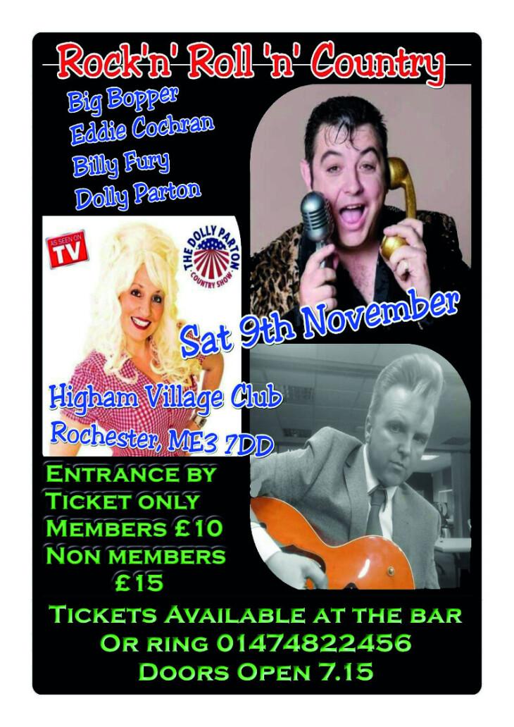Cabaret show Saturday 9th November