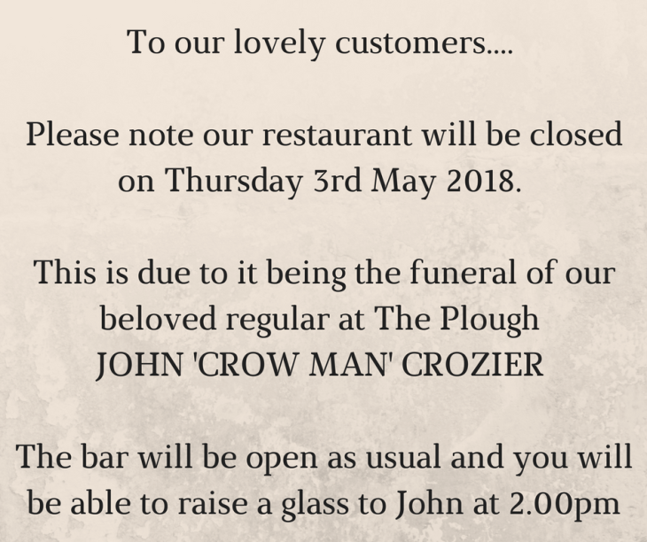 Announcement to our customers.