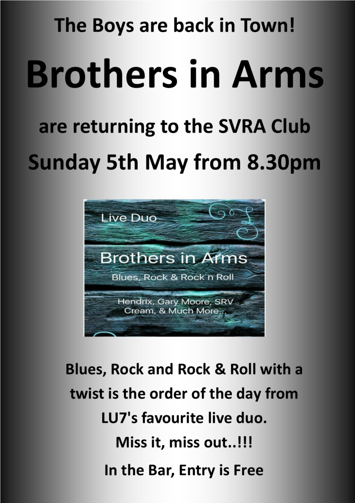 LIVE MUSIC ON MAY BANK HOLIDAY SUNDAY
