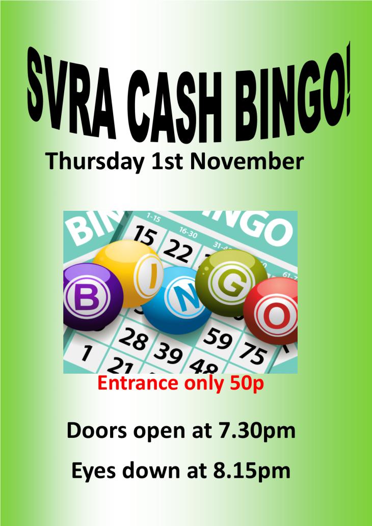 Cash Prize Bingo This Thursday