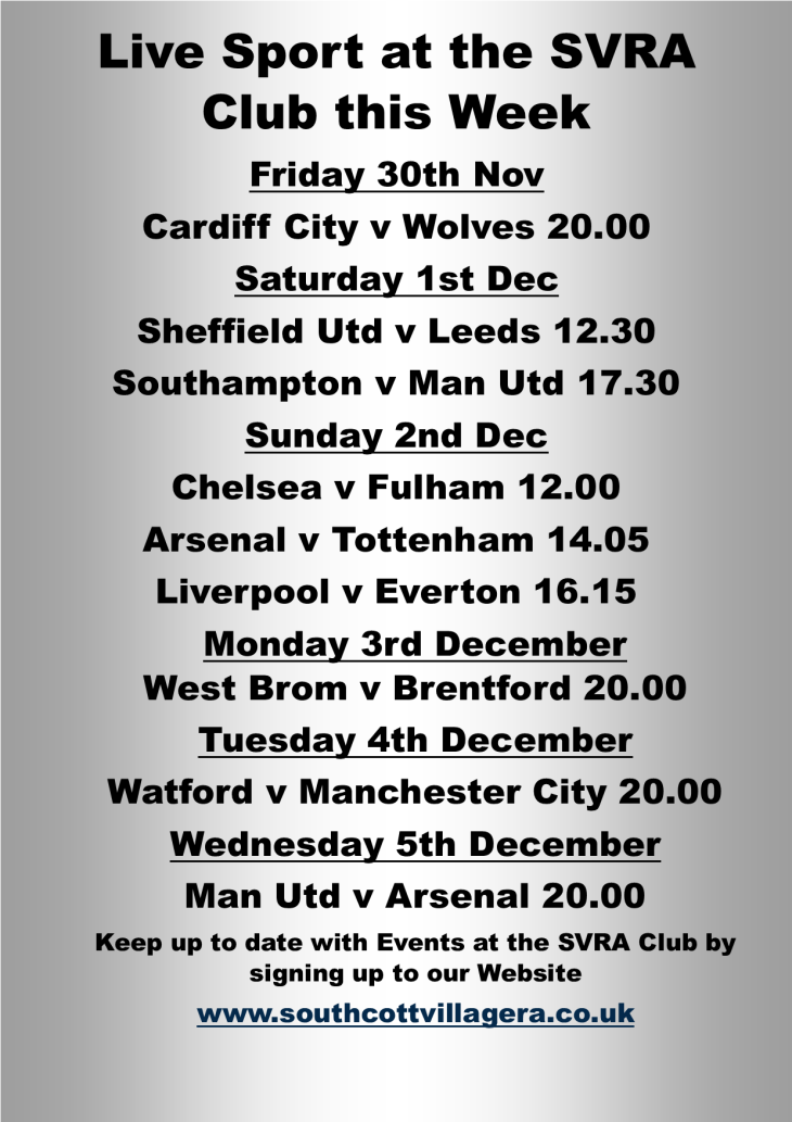 Live Football at the SVRA Club