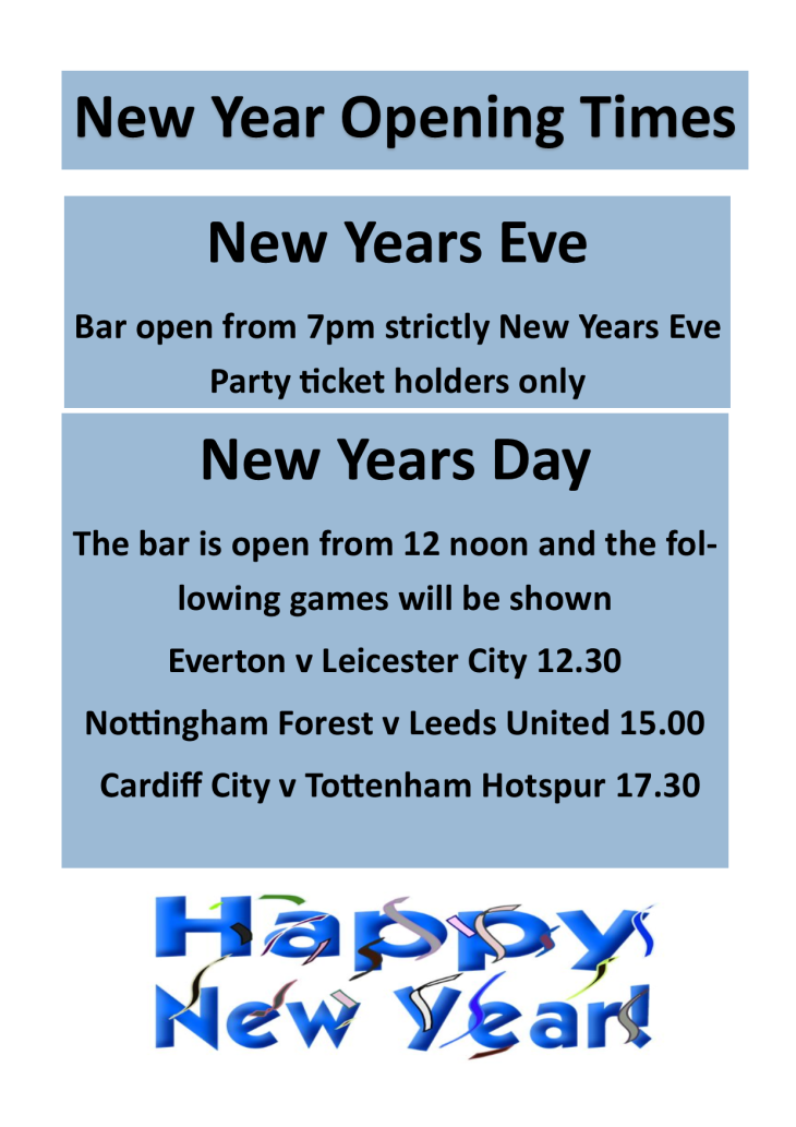 New Year Opening Times