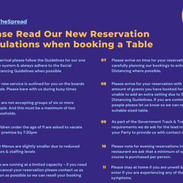 Reservation Guidelines