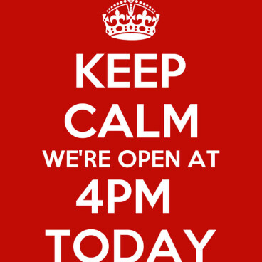 Today's opening time!