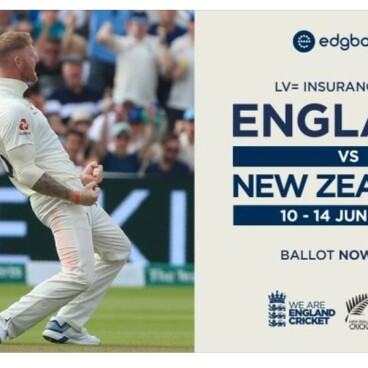 England v New Zealand shown live
