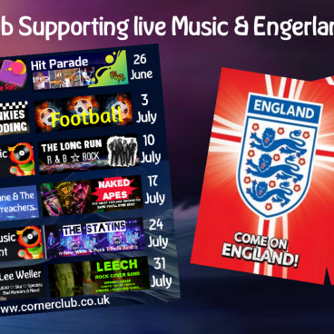 SUPPORTING LIVE MUSIC & ENGLAND!
