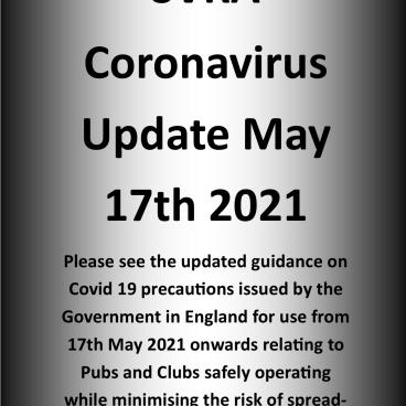SVRA Coronavirus Update May 17th 2021