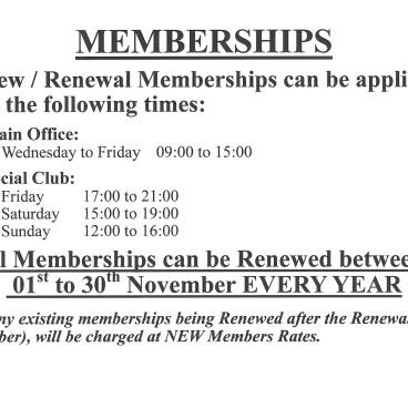 Membership Renewal Times