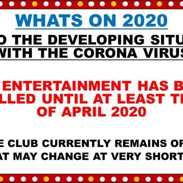 ENTERTAINMENT CANCELLATIONS