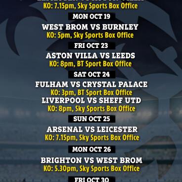 Sky & BT Sports Football Box Office