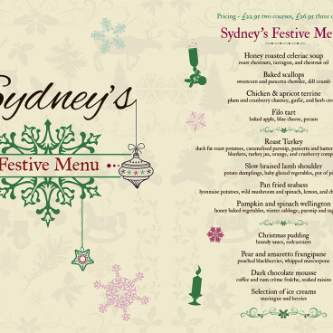 Our festive menu has arrived!!