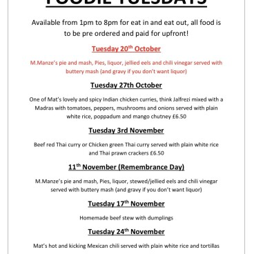 Next weeks Foodie Tuesday
