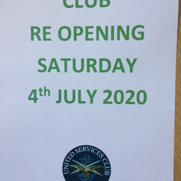 WE ARE RE-OPENING ON 4 JULY !!