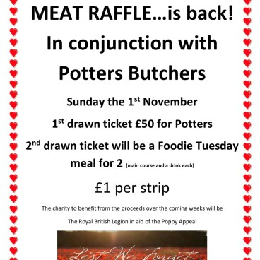Weekly Meat Raffle is back!