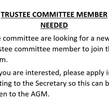 Trustee member needed