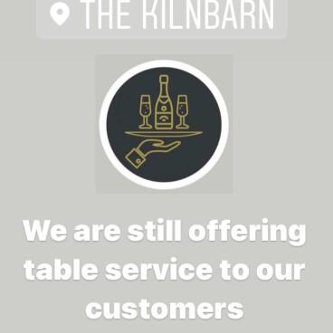Table service at The Kilnbarn