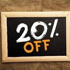 20% OFF!!