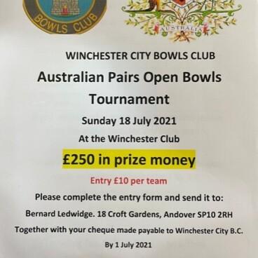 Winchester Bowls Australian Pairs Open