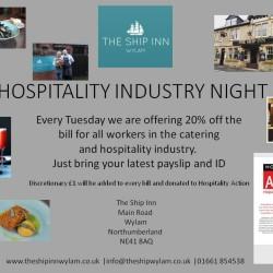 Hospitality Industry Night